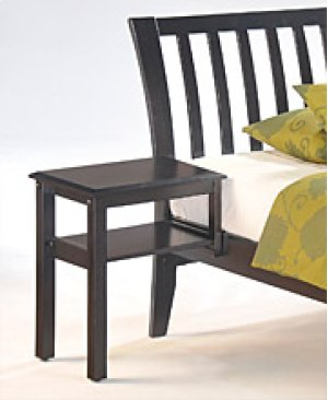 Clove Hook-on Nightstand in Dark Chocolate Finish
