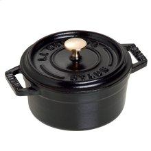 Staub Cast Iron 0.25-qt Mini Round Cocotte, Black Matte