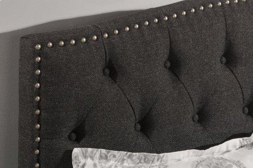 Lila King Bed - Onyx Linen