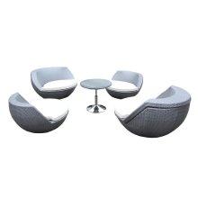 Renava Ovum Outdoor Silver Seating Set