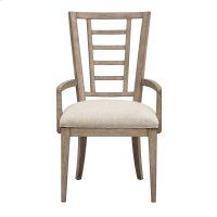 Academy Upholstered Ladderback Arm Chair Product Image