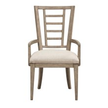 Academy Upholstered Ladderback Arm Chair
