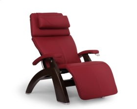 Perfect Chair PC-420 Classic Manual Plus - Red Top-Grain Leather - Dark Walnut