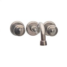 Wall Mount Faucet White Bronze Brushed