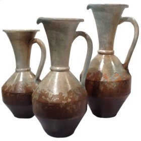 Water Blue: Wide Opening Pitchers (Set of 3)