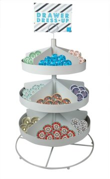 3 Tiered Round Metal Display Bin