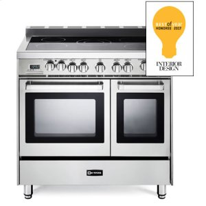 "VeronaStainless Steel 36"" Electric Double Oven Range"