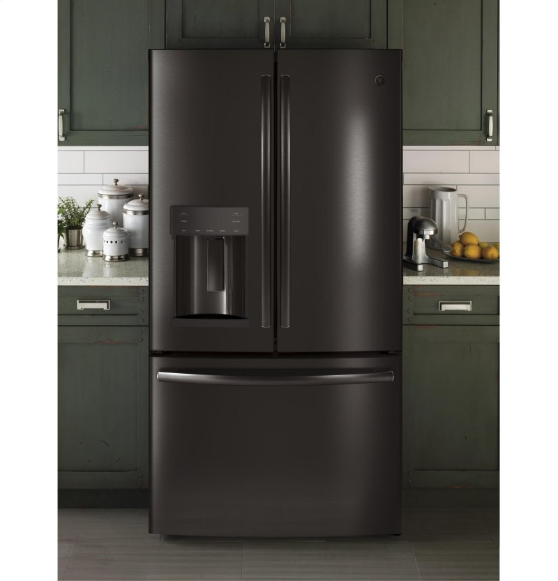 Ge 22 1 Cu Ft French Door Refrigerator Stainless Steel