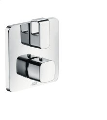 Chrome Thermostat for concealed installation with shut-off/ diverter valve