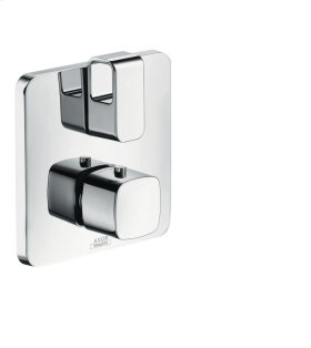 Brushed Bronze Thermostatic mixer for concealed installation with shut-off/ diverter valve