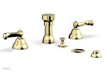REVERE & SAVANNAH Four Hole Bidet Set D4102 - Polished Brass