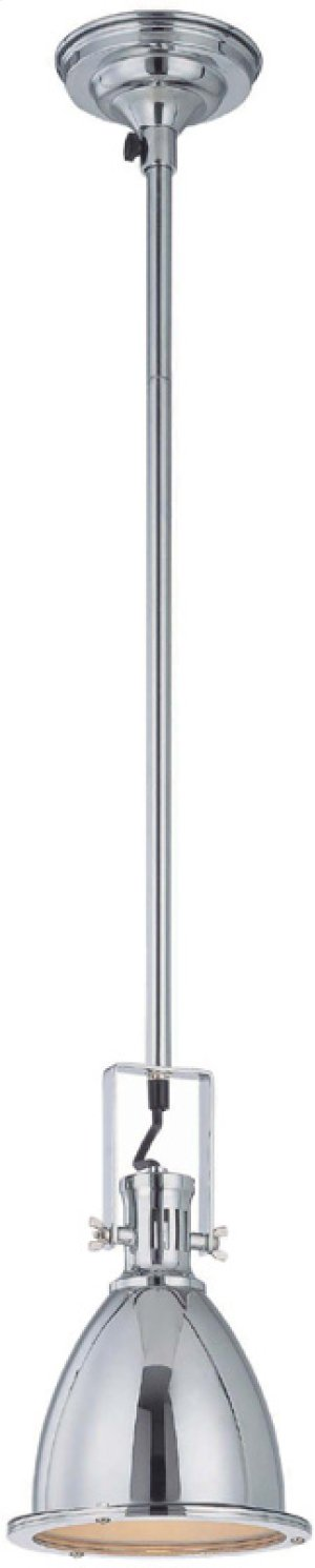 "Ceiling Lamp W.48"" Pole, Chrome, Type A 60w"
