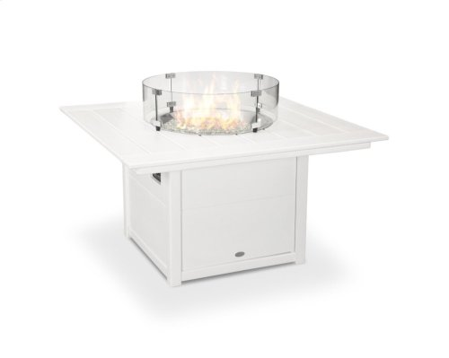 "White Square 42"" Fire Pit Table"