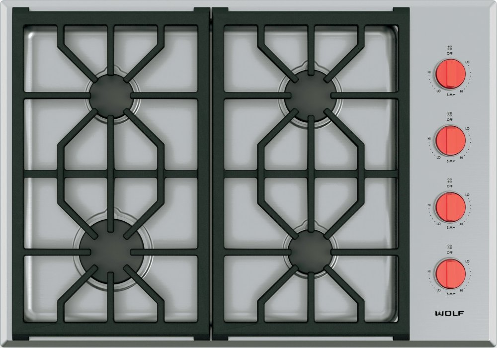 Wolf 30 Professional Gas Cooktop 4 Burners
