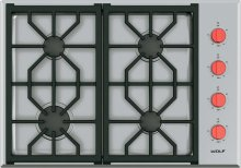 "30"" Professional Gas Cooktop - 4 Burners"