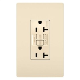 Dual Function Tamper-Resistant 20A AFCI/GFCI Receptacle, Light Almond