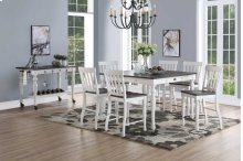 7 PIECE PUB SET (TABLE WITH 6 BARSTOOLS)