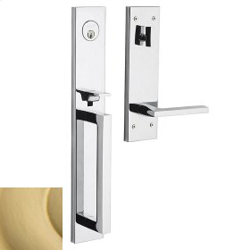 Satin Brass Minneapolis Full Escutcheon Handleset
