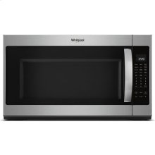 Whirlpool® 2.1 cu. ft. Over the Range Microwave with Steam Cooking - Black-on-Stainless