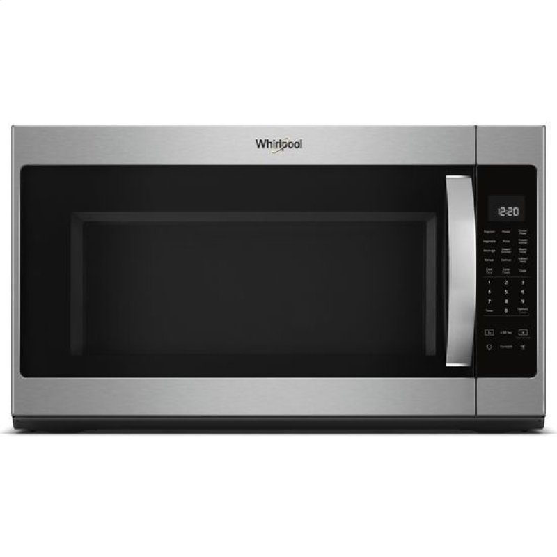Whirlpool 2 1 Cu Ft Over The Range Microwave With Steam Cooking Black