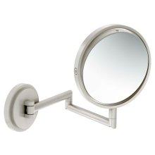 Arris brushed nickel 5x magnifying mirror