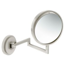 Arris brushed nickel 5x magnifying mirror
