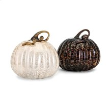 Large Glass Pumpkin - Ast 2