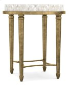Living Room Aura Round Accent Table w/ Shell Top Product Image