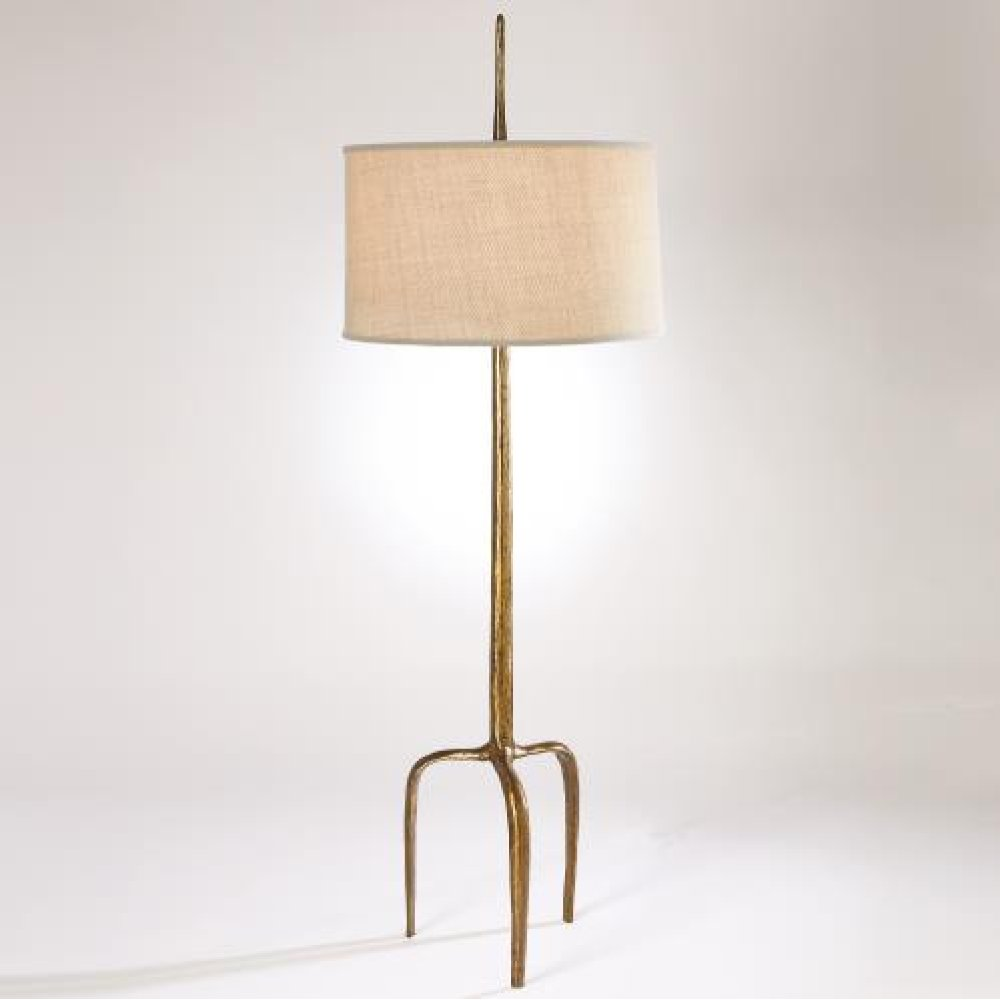 Riley Floor Lamp-Gold Leaf