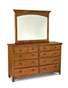 Pasadena Revival Eight Drawer Dresser Product Image
