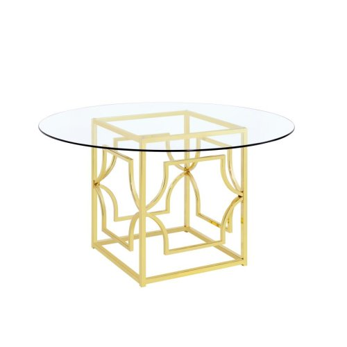 Modern Gold Dining Table Base