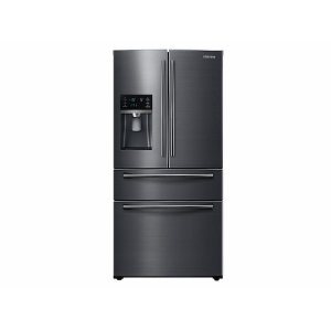 SAMSUNG25 cu. ft. 4-Door French Door Refrigerator in Black Stainless Steel