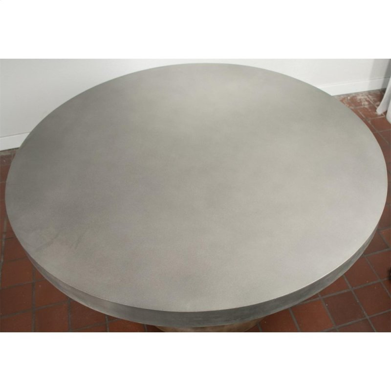 Sherborne Concrete Top Round Dining Table Natural Finish