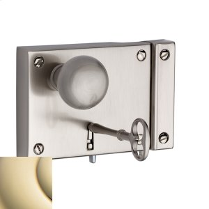 Lifetime Polished Brass 5704 Small Horizontal Rim Lock Product Image