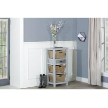 Tuscan Retreat® Basket Stand With Metal Front and Three Baskets