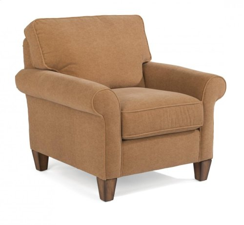Westside Chair & Ottoman Set in Cashmira Fabric