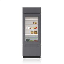 "30"" Classic Over-and-Under Refrigerator/Freezer with Glass Door - Panel Ready"