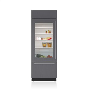 "Subzero30"" Classic Over-and-Under Refrigerator/Freezer with Glass Door - Panel Ready"