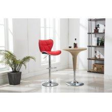 RED BAR STOOL (2 IN 1 BOX)
