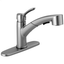 Arctic Stainless Single Handle Tract-Pack Pull-Out Kitchen Faucet
