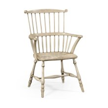 Grey Painted Windsor Chair (Arm)