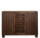Modern Gatherings Open Slat Bar Brushed Acacia finish