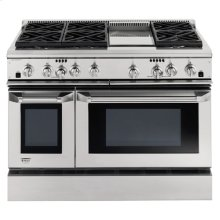 "GE Monogram® 48"" Dual-Fuel Professional Range with 6 Burners and Griddle (Liquid Propane)"