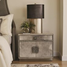 Metro Nightstand-Grey Hair-on-Hide