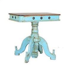 Turquoise/Walnut Francis Recepcion End Table