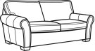 Vail Leather Two-Cushion Sofa Product Image