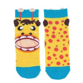 Giraffe Heel Socks - Youth Shoe Size 8-13