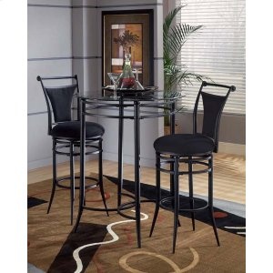 Hillsdale FurnitureMix and Match 3pc Pub Set W/ Cierra Stools Black