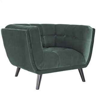 Bestow Velvet Armchair in Green