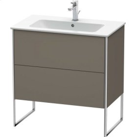 Vanity Unit Floorstanding, Flannel Grey Satin Matt Lacquer